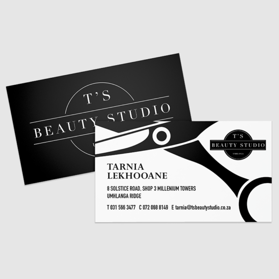 Ts Beauty Salon Business Card